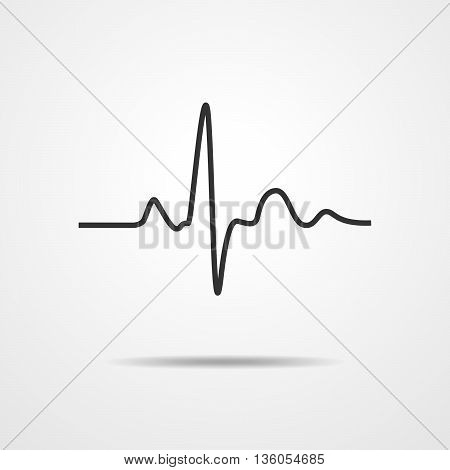 Heartbeat icon - vector illustration. Heartbeat sign in flat design.