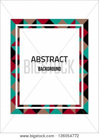 Vector constructive frame background. Flat color frame. Geometry blue frame. Modern frame. Material design frame. Stylized frame