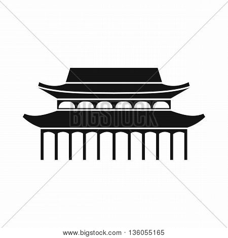 Buddha Toothe Relic Temple in Singapore icon in simple style isolated on white background