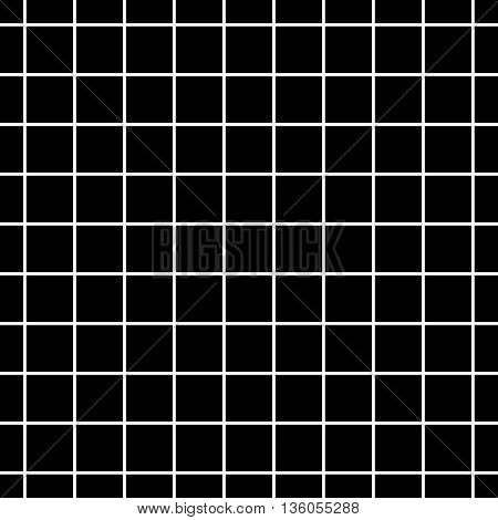 Square geometric seamless pattern. Fashion graphic background design. Modern stylish abstract texture. Monochrome template for prints textiles wrapping wallpaper website etc. VECTOR illustration