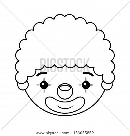 clown head isolated icon design, vector illustration  graphic