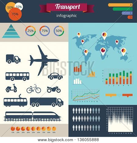 A Modern Set Of Infographics And Icons City Transport