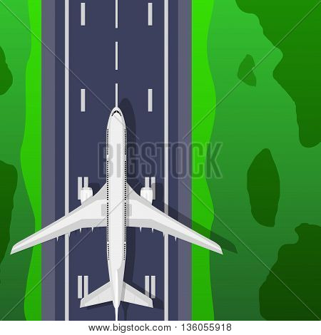 Airstrip With Airplane