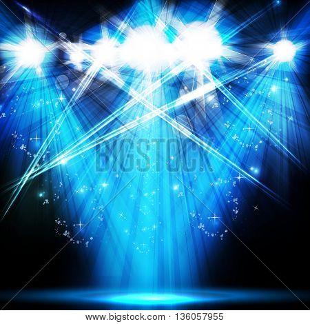 scene illuminated spotlight, disco, party