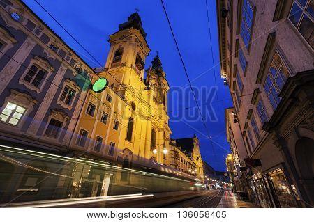 St. Michael Church in Linz. Linz Upper Austria Austria.