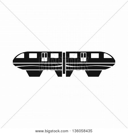Monorail train icon in simple style isolated on white background