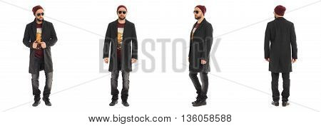 Young Man In Warm Clothing Looking Tough