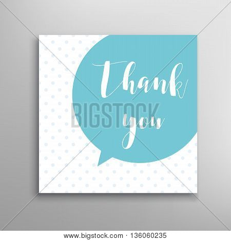 Thank you phrase. Hand drawn calligraphy greeting. Vector lettering text