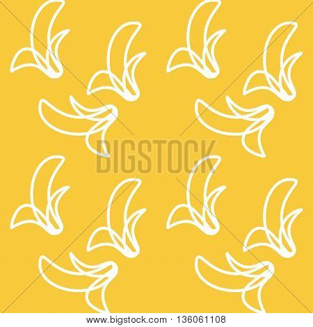 Vector seamless pattern with banana. Modern stylish texture. Repeating geometric background with banana