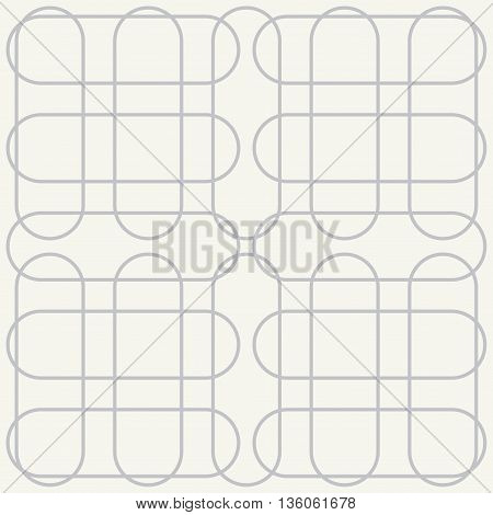 Vector seamless pattern. Modern stylish texture. Repeating geometric background with ovals.