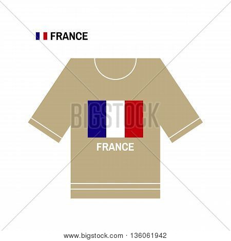 Vector French t-shirt symbol. France National sport team isolated on white. European Championship.