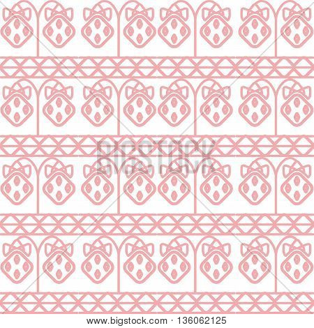 Vector seamless pattern with strawberry. Modern stylish texture. Repeating geometric background with stars.