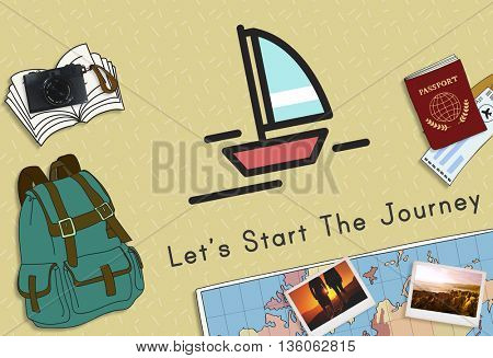 Travel Journey Backpack Traveling Holiday Concept
