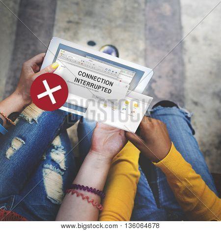 Online Messaging Internet Technology Concept