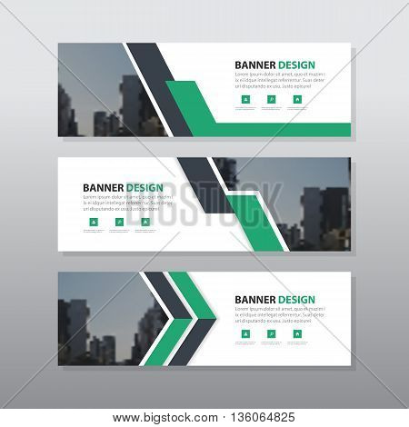 Green purple abstract corporate business banner template horizontal advertising business banner layout template flat design set clean abstract cover header background for website design
