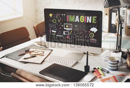 Imagine Imagination Be Creative Research Concept