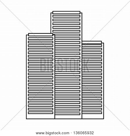 Skyscrapers in Singapore icon in outline style isolated on white background