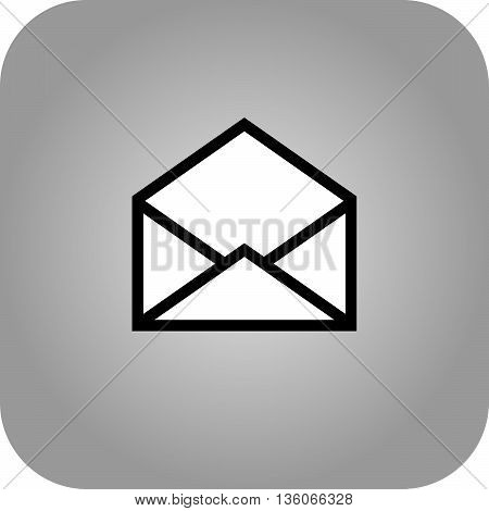 Email symbol letter icon - vector, flat design. Eps 10.