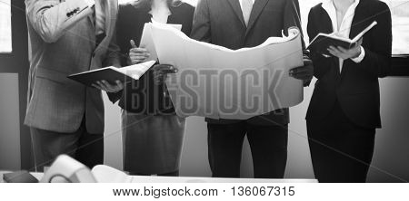Business People Meeting Conference Discussion Planning Concept
