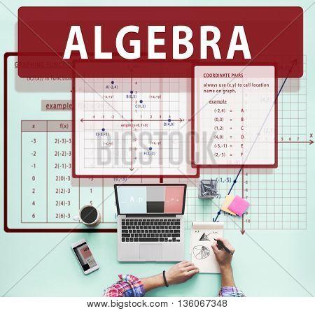 Algebra Mathematics Calculation Chart Concept