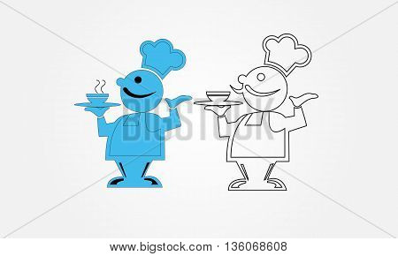 Chef cusine design , illustration with silhouette