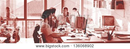 Working Workplace Stationary Interaction Business Concept