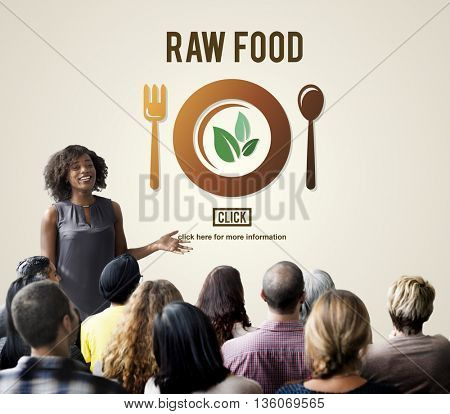 Raw Food Eating Healthy Lifestyle Concept
