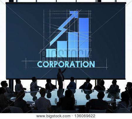 Corporation Big Business Graph Graphic Concept