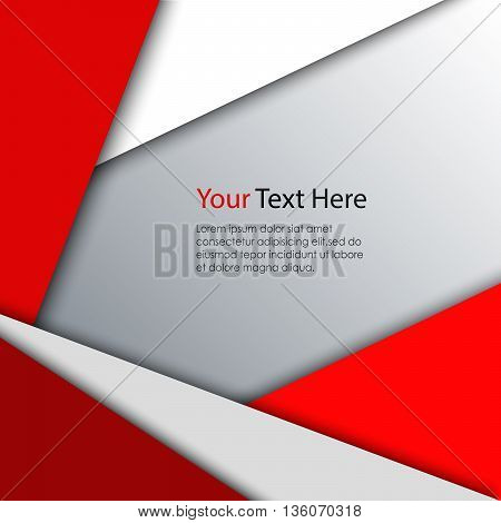 Abstract red white triangles background vector eps 10