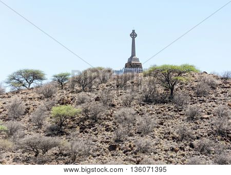Monument at Magersfontein battlefield near Kimberley in Northwest Province in South Africa