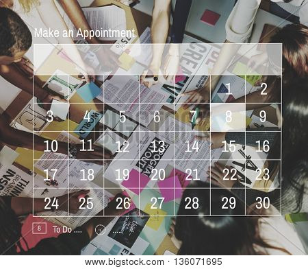 Calendar Agenda Annual Appointment Meeting Concept