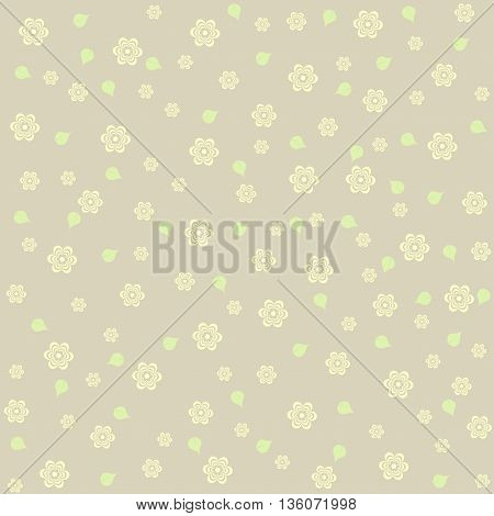 Elegant flower pattern. Vector illustration in pastel tones