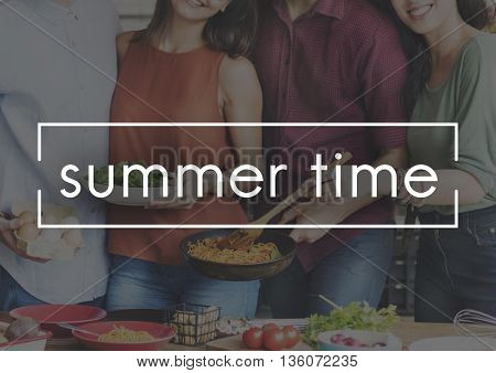 Summer Time Holiday Rest Outdoors Concept