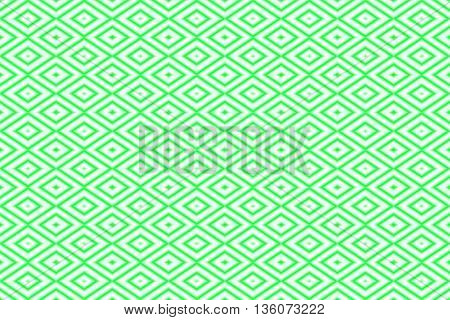Illustration of repetitive green and white rhombuses