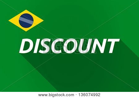 Long Shadow Brazil Flag With    The Text Discount