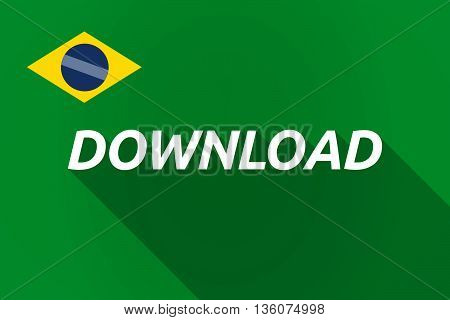 Long Shadow Brazil Flag With    The Text Download