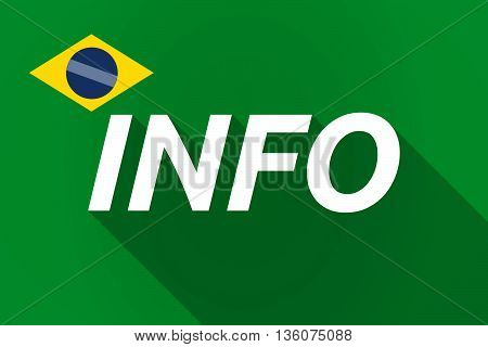 Long Shadow Brazil Flag With    The Text Info