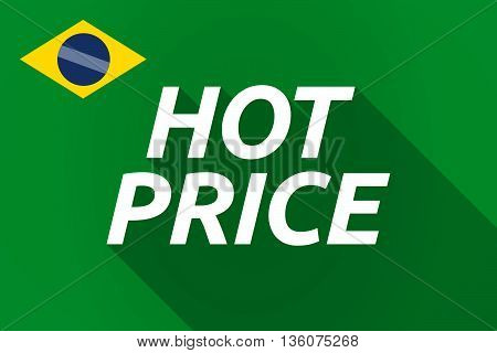 Long Shadow Brazil Flag With    The Text Hot Price