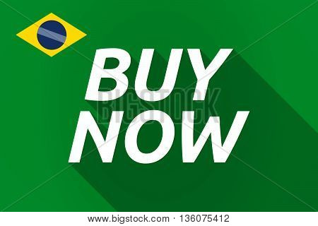 Long Shadow Brazil Flag With    The Text Buy Now