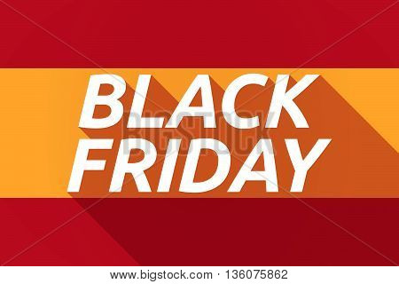 Long Shadow Spain Flag With    The Text Black Friday