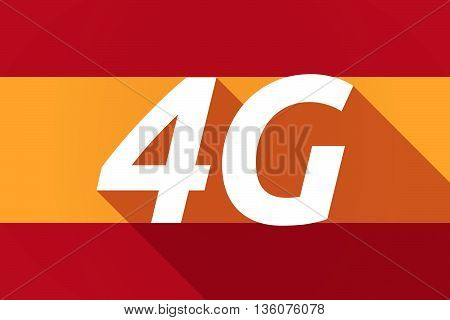Long Shadow Spain Flag With    The Text 4G