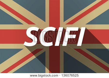 Long Shadow Uk Flag With    The Text Scifi