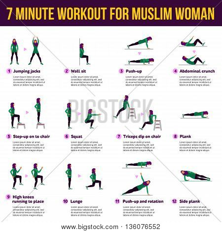 Aerobic Icons. 7 Minute Workout For Mislim Woman