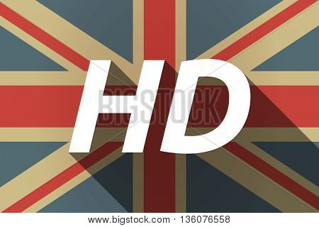 Long Shadow Uk Flag With    The Text Hd