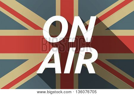 Long Shadow Uk Flag With    The Text On Air