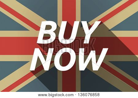 Long Shadow Uk Flag With    The Text Buy Now