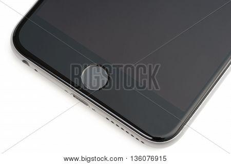 Smartphone on Touch ID -- fingerprint scanner