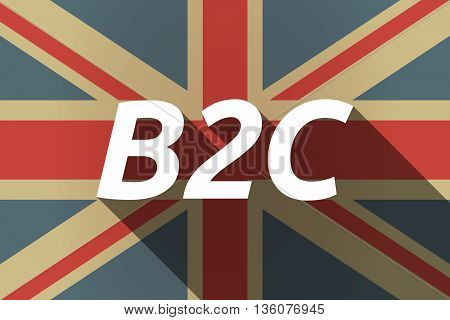 Long Shadow Uk Flag With    The Text B2C