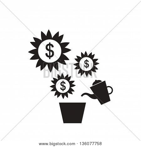 Flat icon in black and white  Money Tree