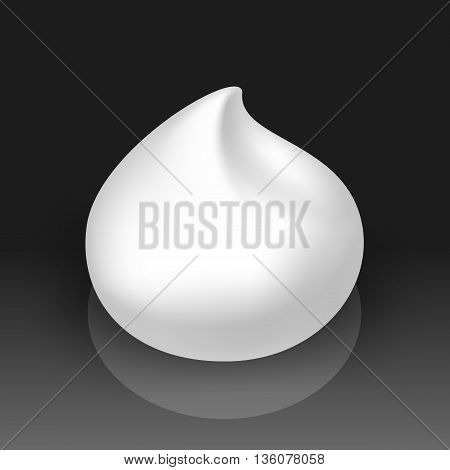 Vector Illustration of White Foam Cream Mousse Soap Lotion Isolated on Background